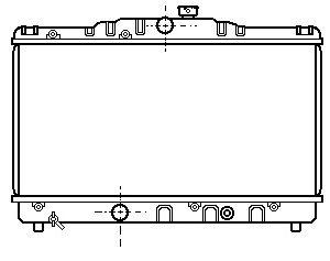 RADIADOR MANUAL EE90/AE92 2EE 4AF (LARGO)