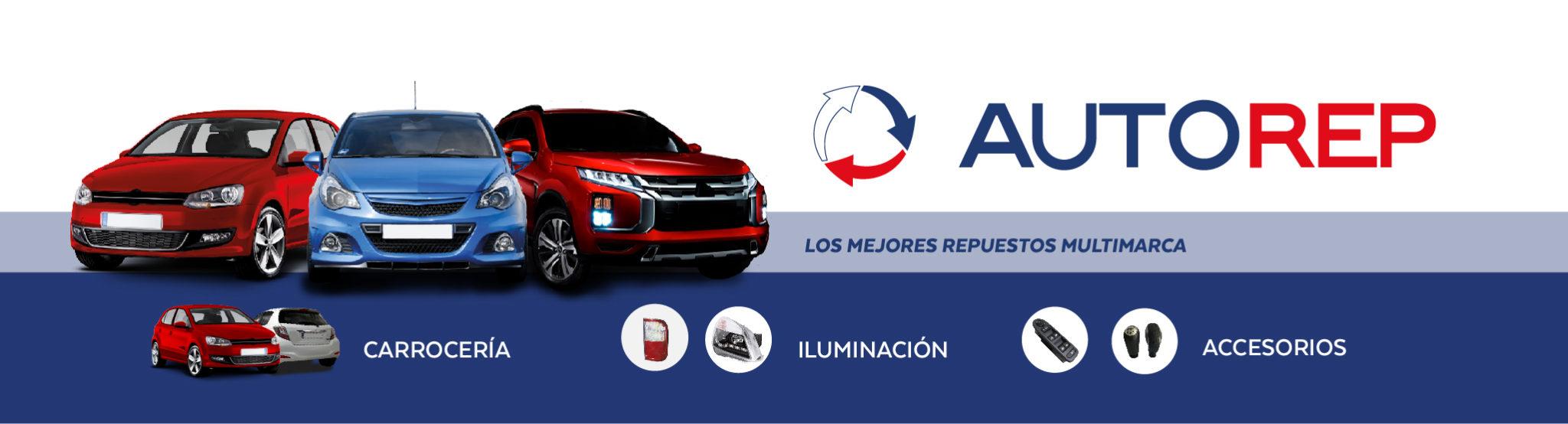 Banner de los servicios de autorep: carrocería, iluminación y accesorios